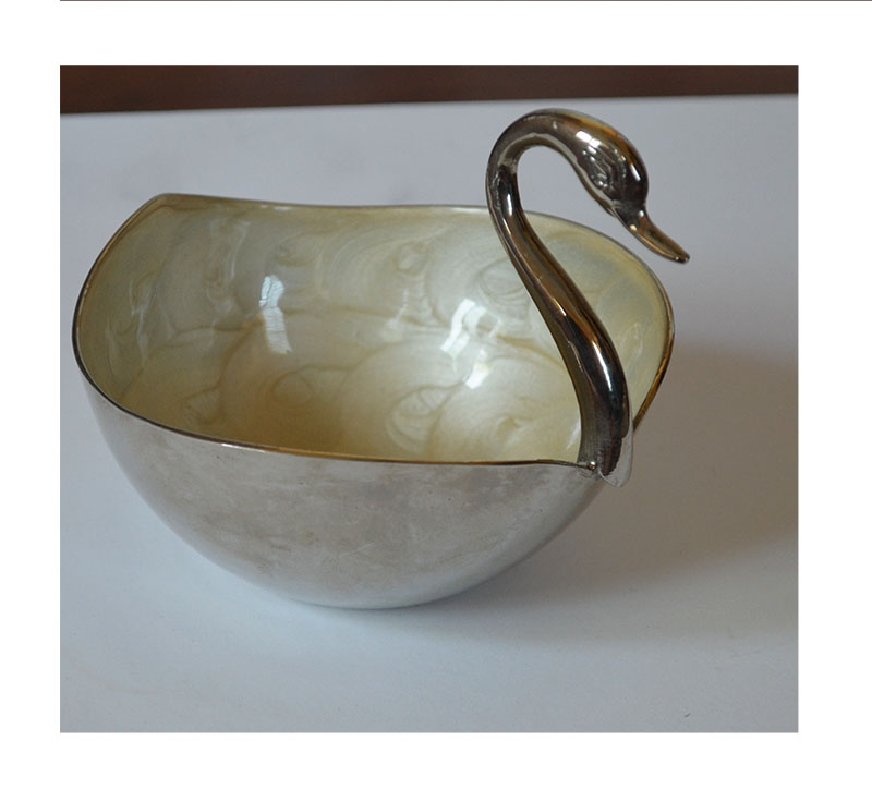 Silver Metal Swan Shape Home Decorative Storage Bowl From India Ebay