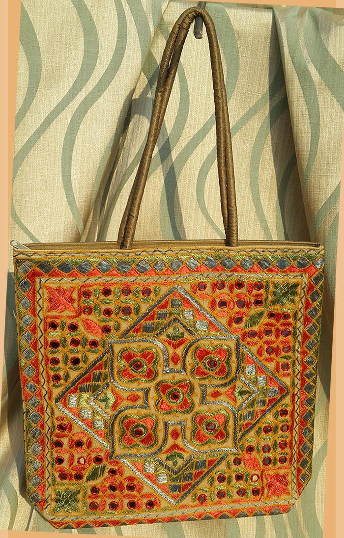 Embroidered Silk Bag Purse Shoulder Bag Evening Purse